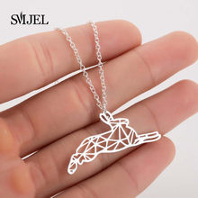 SMJEL Cute Rabbit Necklace Women Gold Sliver Rose Bunny Charm Pendant Necklaces Women Animal Jewelry Dropshipping Collares(China)