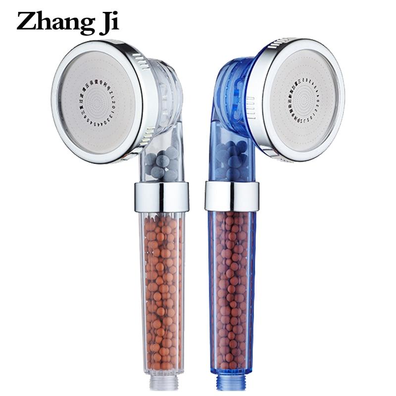 ZhangJi 3 Função Ajustável Head Banheiro Chuveiro Handheld Poupança de Água de Alta Pressão do Jacto de Ânion Filtro SPA Chuveiros