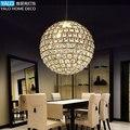 Atmosférica moderna cristal levou pingente lâmpadas luzes do corredor quarto sala de jantar sala de luxo criativo iluminação circular