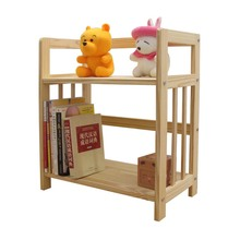GOHIDE 1 set of Child bookshelf solid wood bookcase ofhead shelf storage rack simple toy shelf for living room storage