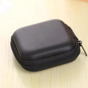 Image 5 - DOITOP Mini Zipper Harte Kopfhörer Fall PU Leder Kopfhörer Lagerung Tasche Schutzhülle USB Kabel Organizer Für Tragbare Ohrhörer box