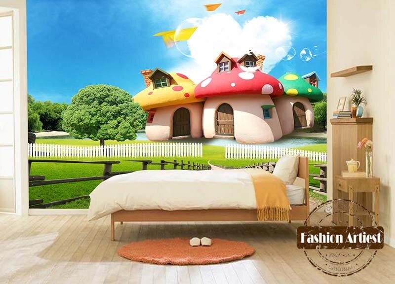 Poster Murali Per Camere Da Letto : Personalizzato d carta da parati per bambini bambini del fumetto