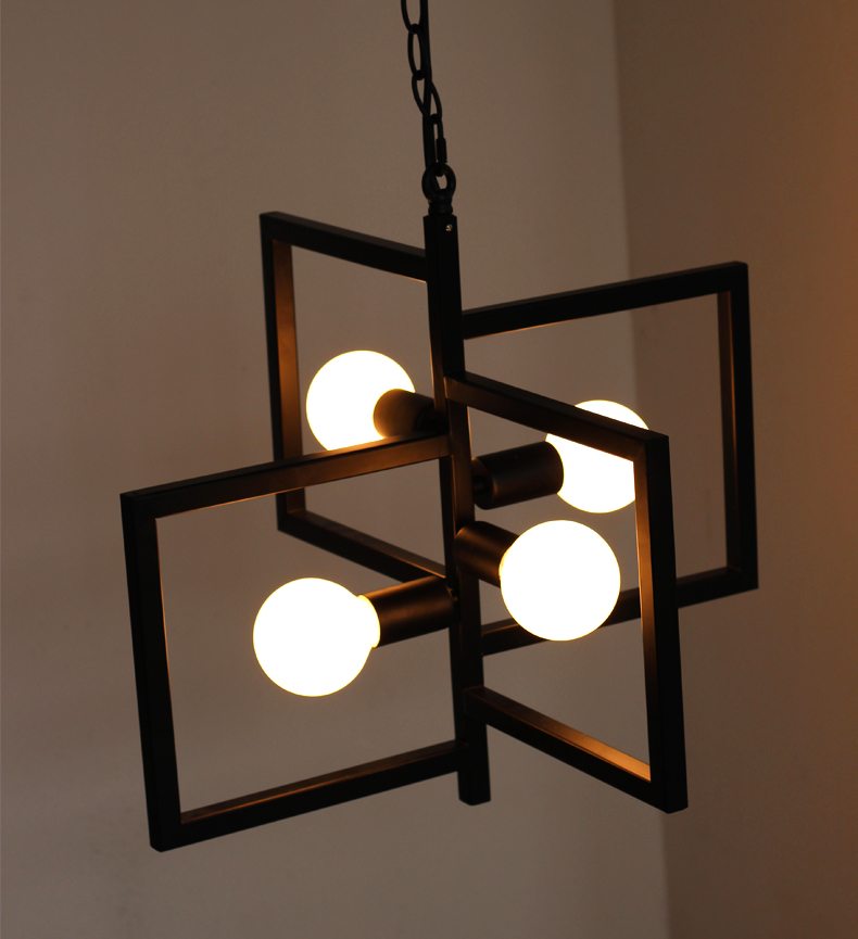 Modern Iron Pendant Lamp Vintage Chain Pendant Light Foyer/Loft/Bar/Mall/Coffee House Lighting Free Shipping - 4