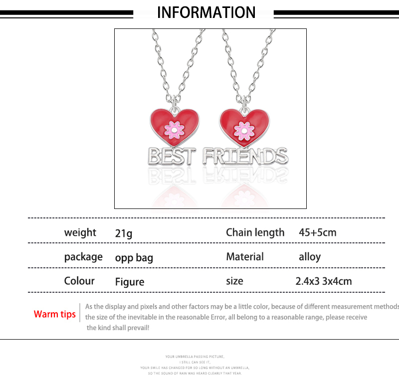 HTB12NTLXfvsK1RjSspdq6AZepXaR - Best Friend Necklace Women Crystal Heart Tai Chi Crown Best Friends Forever Necklaces Pendants Friendship BFF Jewelry Collier