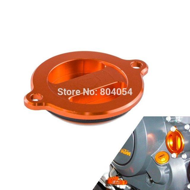 CNC Billet Tampa Do Filtro De Óleo Tampa Se Encaixa Para KTM 250/400/450/525 EXC 1999-2007 laranja
