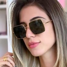 PAWXFB 2019 Square Sunglasses Women Men Celebrity Sun Glasses Brand Designer Eyewear
