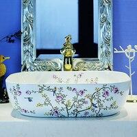 Resolved counter basin large bathroom vanity counter basin ceramic 874