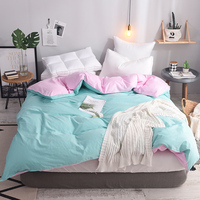 Fashion Pure Green pink Home Quilt Cover 100% Cotton Comforter Cover Printed Bed Duvet Cover queen 200cm*230cm 1Pc quilt cover