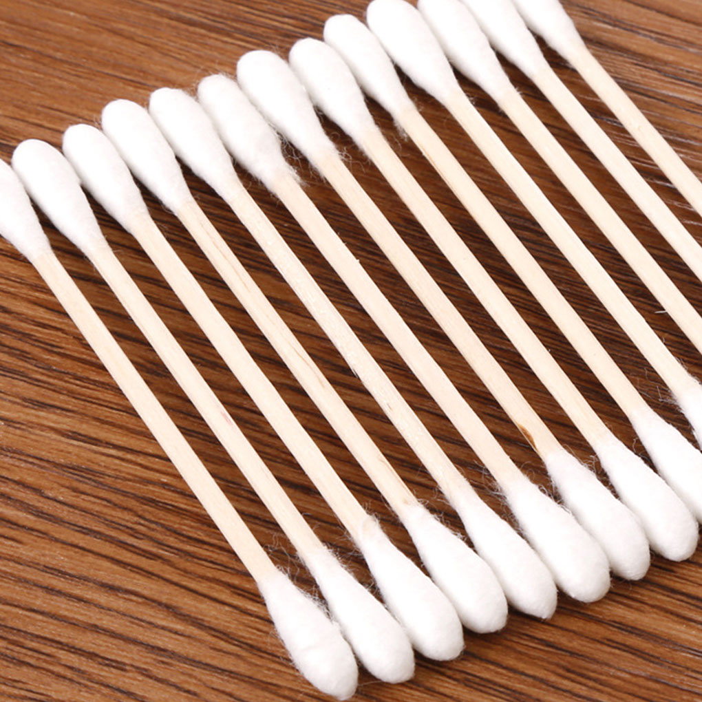 High Quality 200PCS Double-headed Cotton Swab Stick Baby Sanitary Cotton Swab Cleansing Makeup Stick