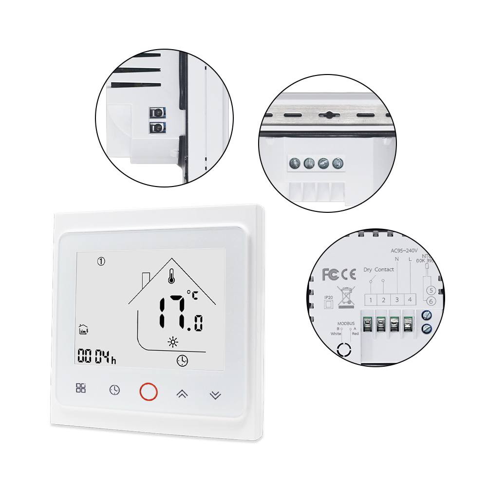 Thermostat intelligent WIFI 3A/16A régulateur de température de chaudière à gaz de chauffage par le sol électrique avec contrôle vocal d'écho - 6