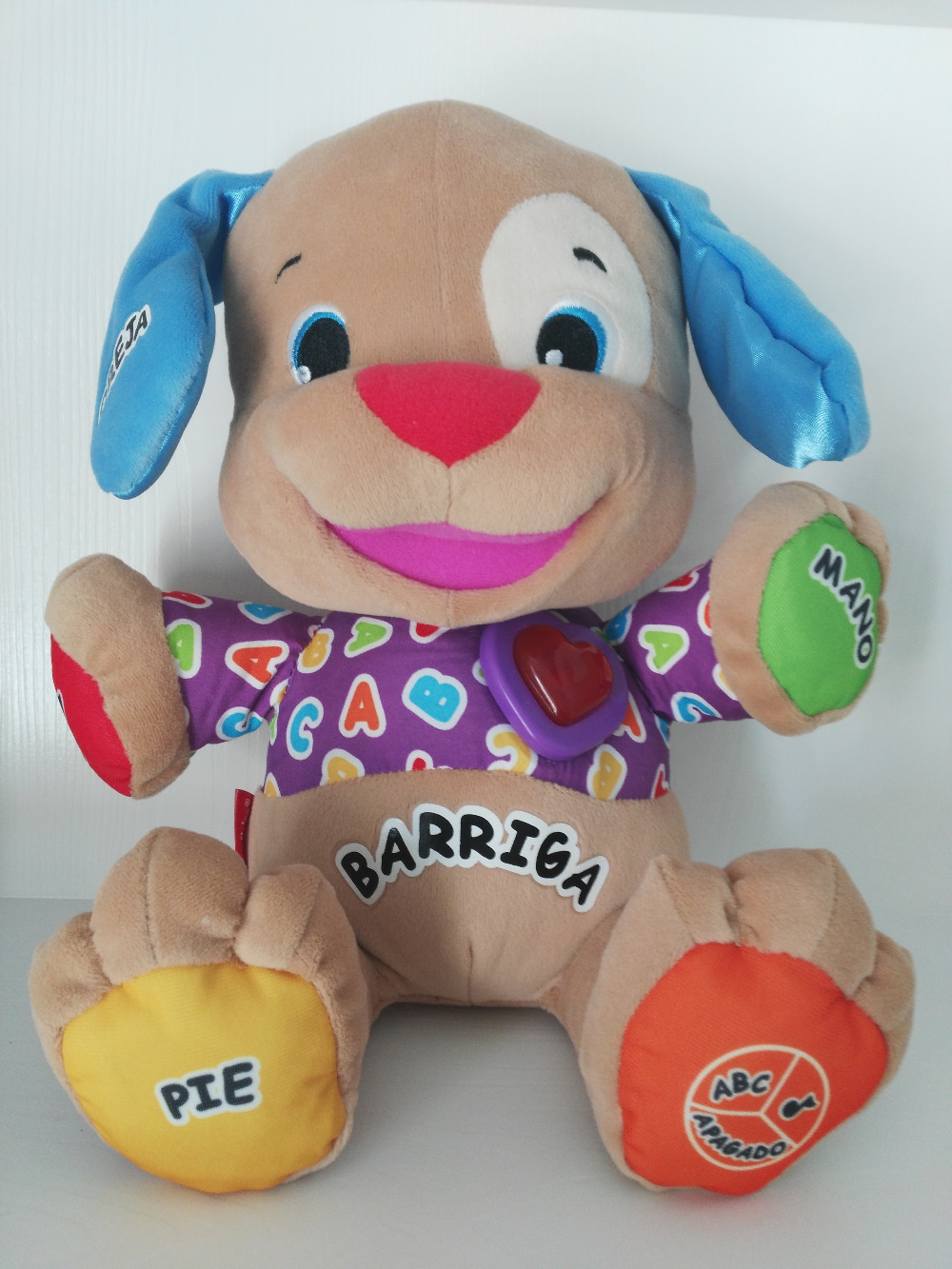 Spanish Speaking Singing Dog Toy Musical Educational Baby Boy Girl Toys Infant Stuffed Doll