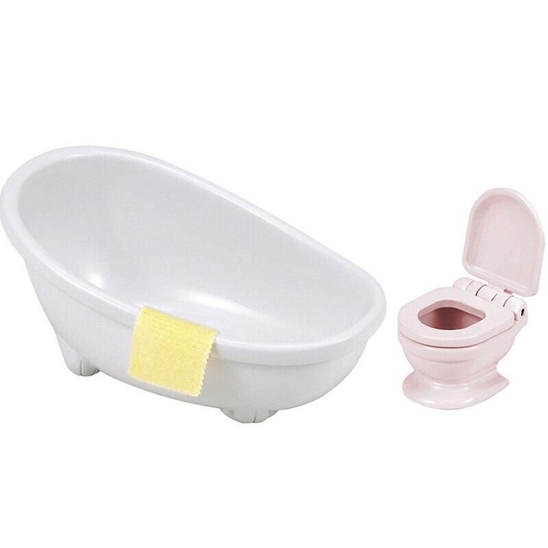 Trendy sylvanian famiglia di mini wc set vasca da bagno mini mobili fingere giocattoli regalo - Vasche da bagno mini ...
