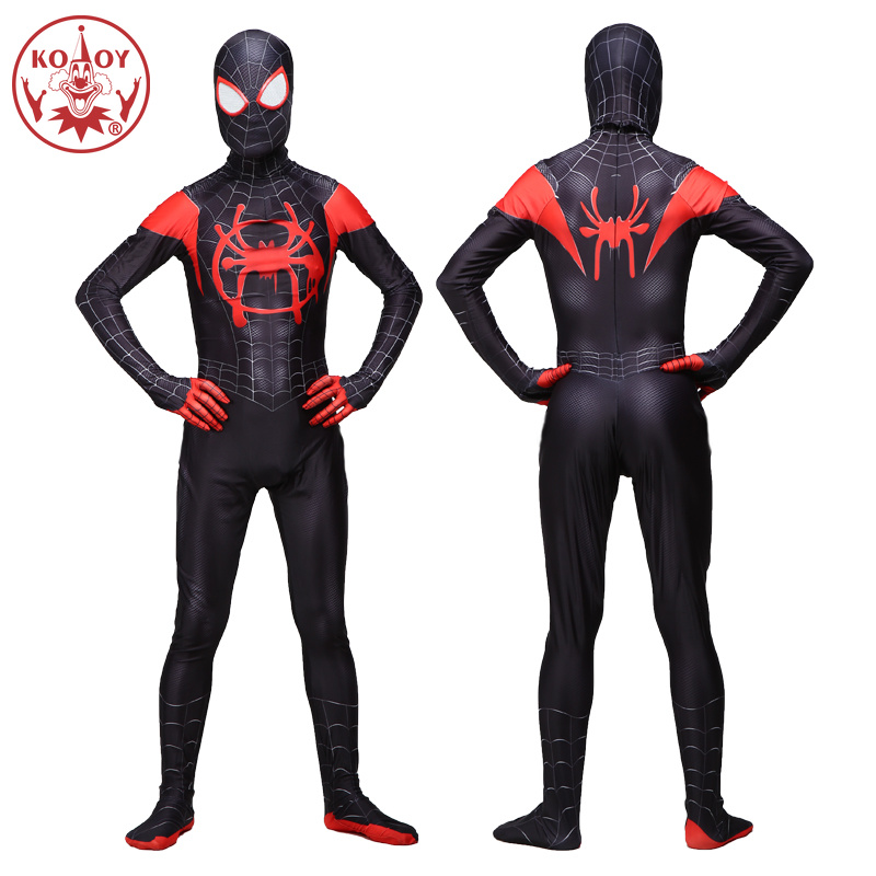 Adult Men Amazing Spiderman Jumpsuit Cosplay Costume Movie Halloween Spider-Men Bodysuit Black Red Suit