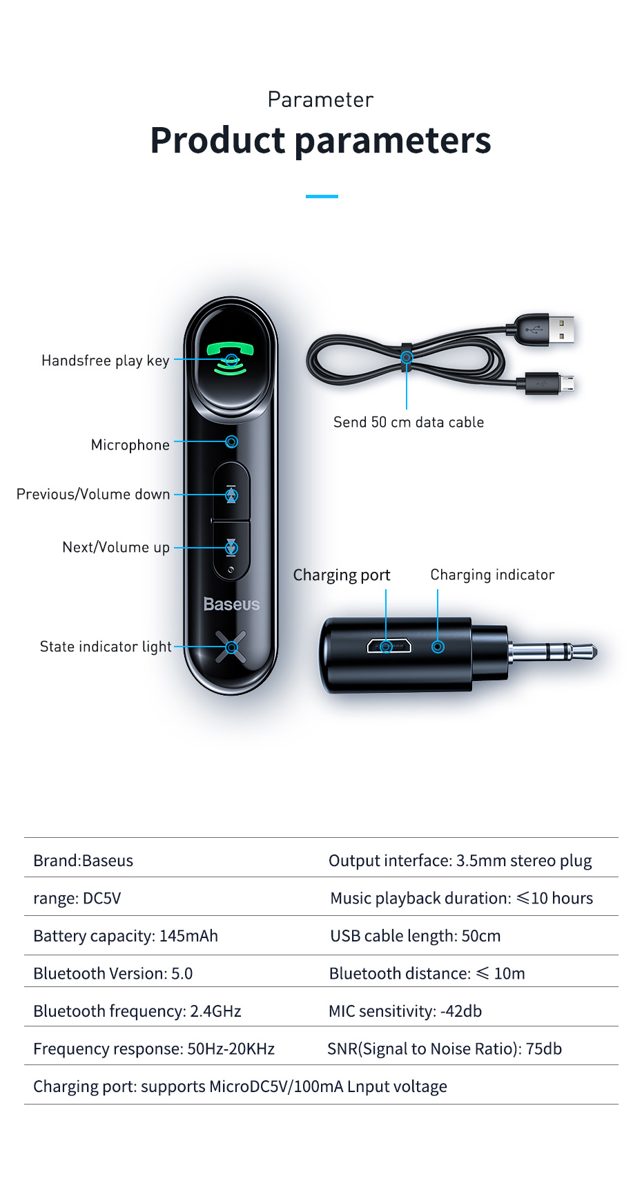 Baseus Car Aux Bluetooth 5 0 Adapter 3 5mm Jack Wireless Audio Receiver Handsfree Bluetooth Car Kit For Phone Auto Transmitter Bluetooth Car Kit Aliexpress