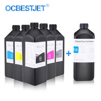 6x1000ml UV Ink With UV Cleaning For Epson P50 T50 L800 L805 L1800 R290 1390 1400 1500W R1900 R3000 Printer Ink UV Printer Ink