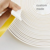 Custom Made Adhesive Silicone Rubber Foam Seal Strip Temperature Resistance 10 50mm X 2 3 4