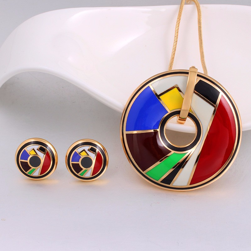 Color Design (Necklace, Earring) 5