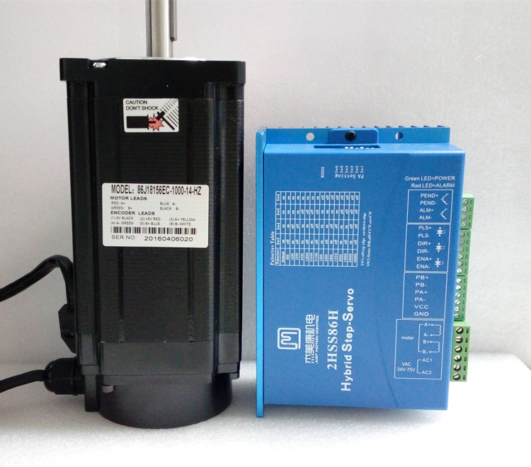 цена на 2 phase NEMA 34 12N.m 1699ozf.in Closed loop Stepper servo motor driver kit JMC 86J18156EC-1000+2HSS86H