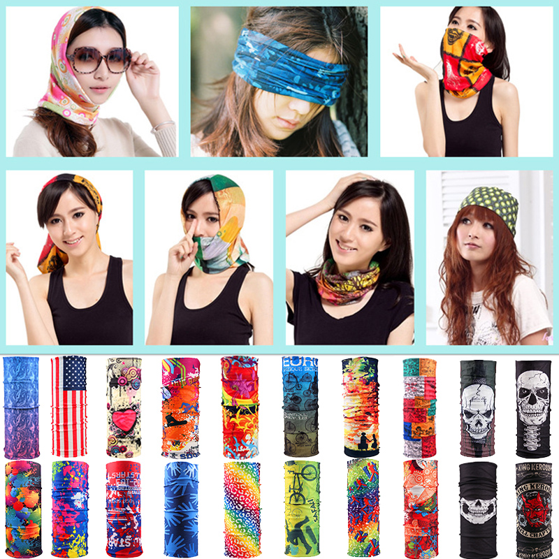 Sale Unisex Women Men Multicolor Magic Fashion Head Face Mask Neck Gaiter Snood Headwear Motorcycle Cycling Tube Scarf Headband