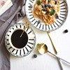 8 Inch 10 Inch Black And White Bone Porcelain Plate Dinner Plate Tableware Dinner Set Dessert