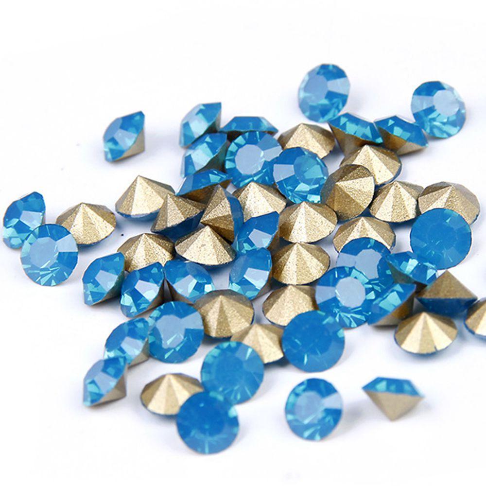 MajorCrafts® Grey Black Diamond Flat Back Round Resin Rhinestones Craft Gems C17