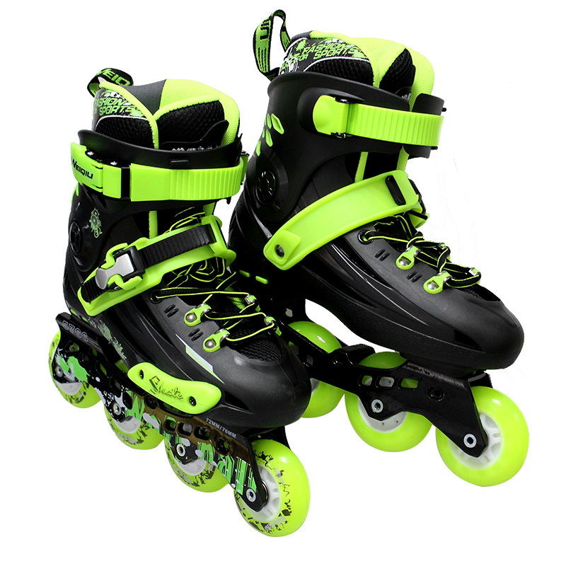 92af650877f3 US $240.0 |Brand WEIQIU Men Shoes Roller Skate Sneakers With wheels Skates  Braking 3Colors Optional Adult Sport Shoes ZZ-in Skate Shoes from Sports &  ...