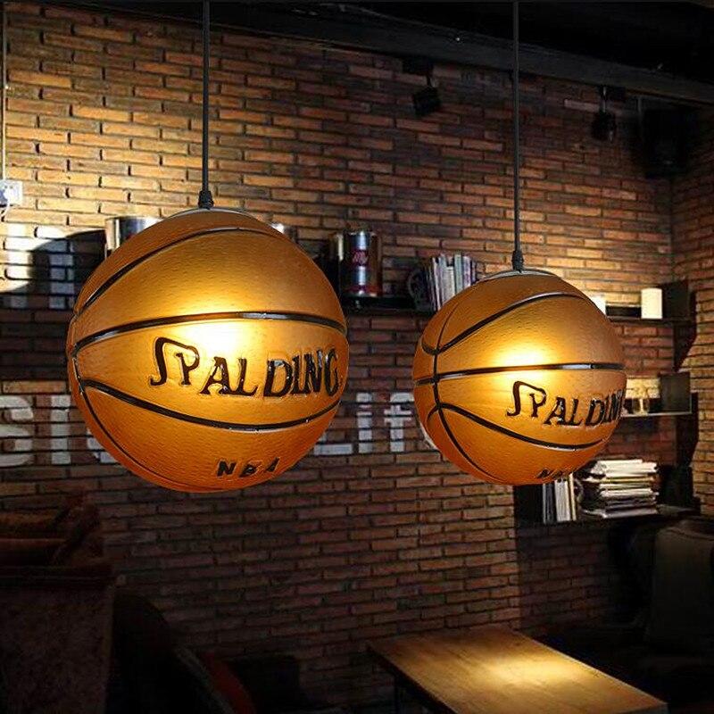 Nordique rétro mode thème Restaurant lustre Bar enfants chambre étude café magasin de sport basket-ball lampe livraison gratuite - 4