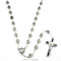 St Benedict Rosary With Metal Bead Rosary Centerpiece And Black Saint Benedict Crucifix