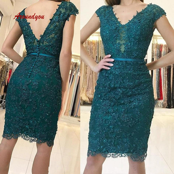 Sexy Green Short Lace Cocktail Dresses Plus Size Little Formal Graduation Prom Party Homecoming Dresses