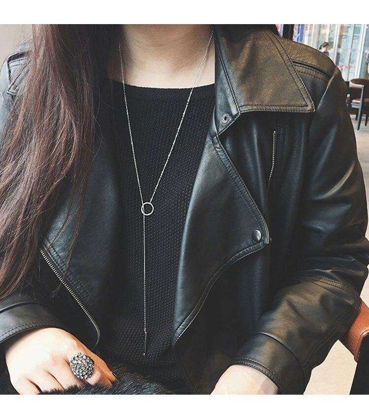 22 стиля, богемное ожерелье для женщин, Ретро стиль, золотая, серебряная цепочка, длинная луна, массивное ожерелье, подвеска, богемное ювелирное изделие, подарок девушке - Окраска металла: 205
