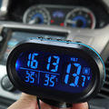 car clock/ car interior and outdoor thermometer. car voltmeter electronic meter