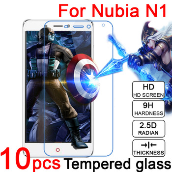 10pcs 0.3mm 9H Explosion Proof Anti scratch LCD Tempered Glass Film For ZTE Nubia N1 NX541J Screen Protector Film + Cloth