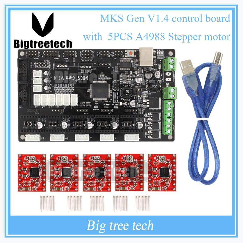 Última Impresora 3D tablero de control V1.4 MKS Gen 2560 Mega R3 motherboard Rep