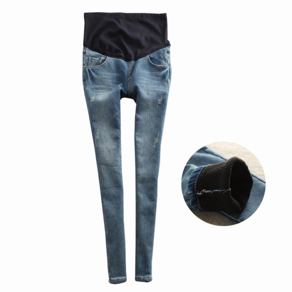 Hot sale Maternity Clothes Autumn  Warm Jeans plus size  Slim casual loose Maternity Jeans Pregnant Pants Pregnancy Trousers new hot sale hot sale car seat belts certificate of design patent seat belt for pregnant women care belly belt drive maternity saf