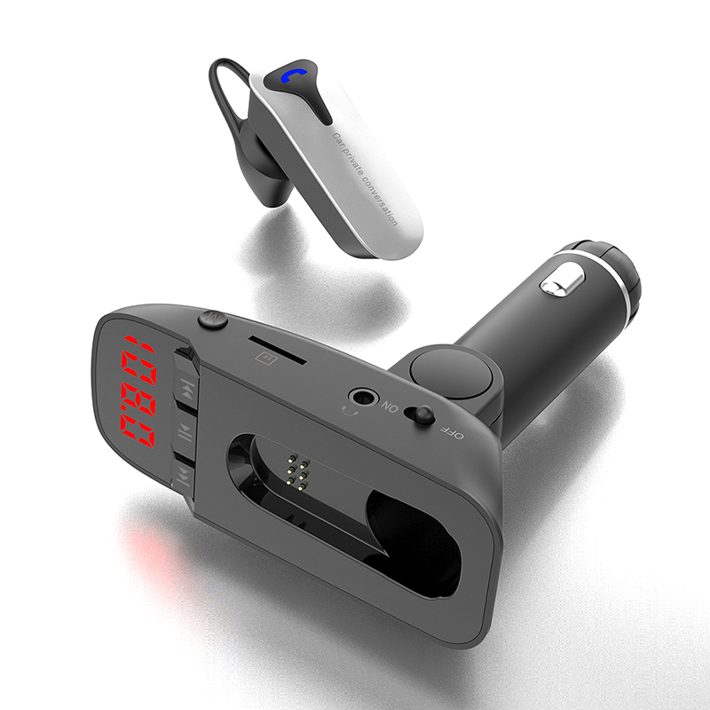 Headset Mp3-Player Support Fm-Transmitter U-Disk Tf-Card Handsfree Bluetooth