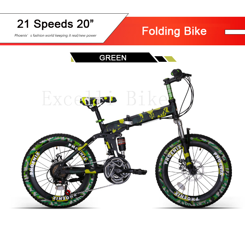 21 Speeds 20 Or 26 Folding Bike Mini Bicicleta Plegable Mountain