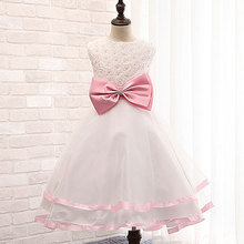 2017 Mid calf New Dress Summer High grade Wedding Dresses Children Embroidered Party Dresse Bridesmaid Kids
