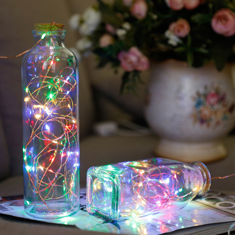 New Year Christmas Garland Waterproof Copper Wire LED String Lamp Fairy lights 2m/5m Length for indoor Decorations