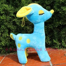 5 pieces cute blue beauty deer toy lovely plush beauty deer soft toy wedding gift about 30cm