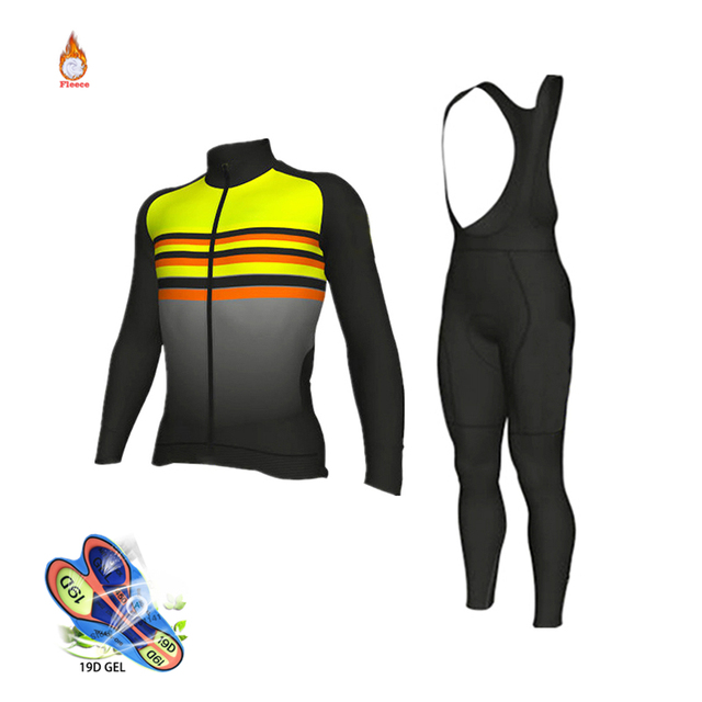 4a8cad45a Ropa Ciclismo Invierno Hombre Termica 2018 Pro Team Long Sleeve Maillot Mtb  Winter Cycling Clothing Triathlon Suit Bike Uniform