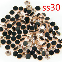 Nwe Champagne SS30 Crystal Glass Loose Rhinestone Stones For Shoes DIY Handmade Accessories