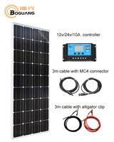 Boguang 100 Вт солнечные панели модуля монокристаллического кремния ячейки 10A USB контроллер MC4 соединительный кабель 12 В зарядное устройство