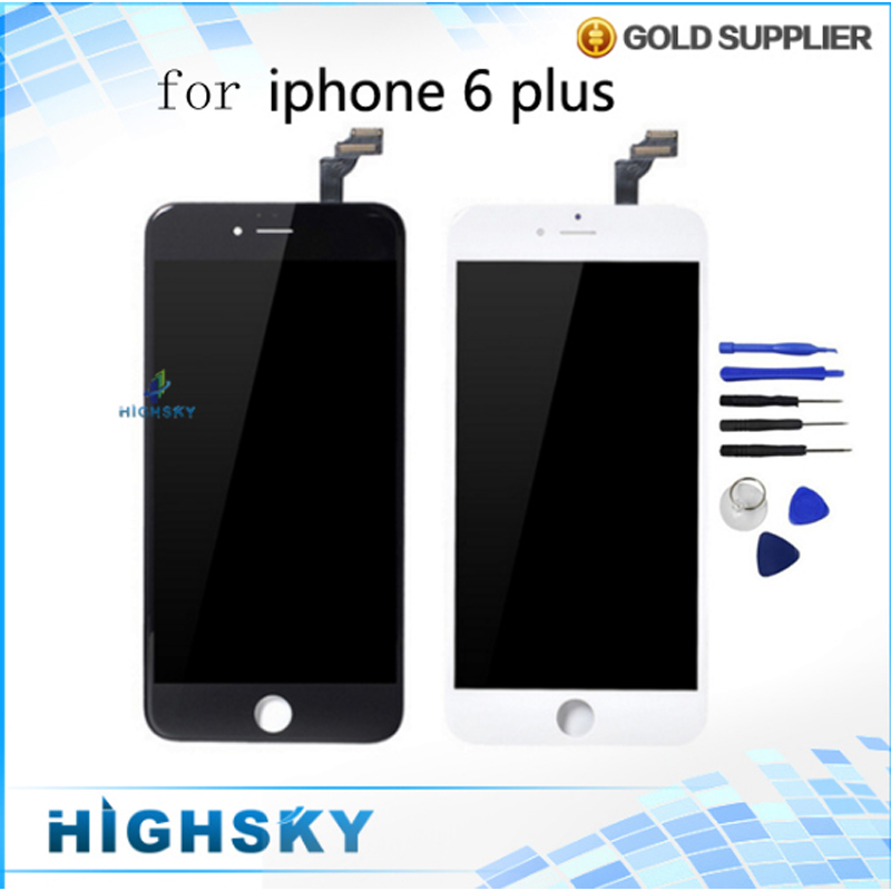 New For iPhone 6 plus LCD Display + Touch Screen Digitizer with Frame Free Tools kit Assembly 5pcs/lot free DHL EMS shipping 2013 new for iphone 5 lcd with touch screen digitizer assembly free shipping lowest price dhl