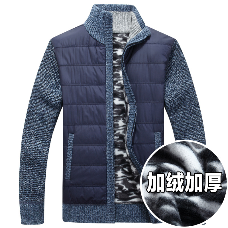 2019 New Men Sweater Cardigan And Velvet With Thick Coat To Keep Warm The Knit Sweater