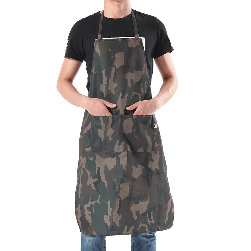 Home Textiles Chefs Apron Cotton Korean Easy To Clean Cooking Kitchen Aprons CF