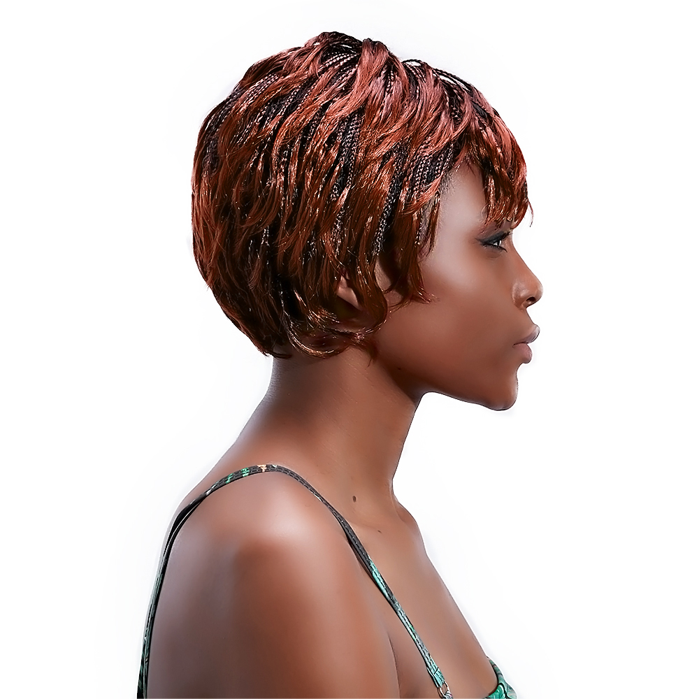 Cheap Human Hair Wigs  Hair Extensions  Short Braided -4057