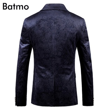 Batmo 2018 new arrival high quality printed casual blazers men,men's casual suits,printed men's jackets plus-size 9005