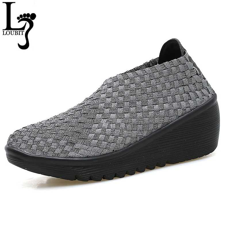 detailed look the best new concept Women's Platform Shoes New Autumn Casual Woman Weave Shoes ...