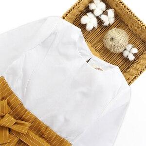 Image 3 - الفتيات الملابس مجموعة خليط قميص فستان + سروال مخطط ملابس الأطفال الربيع والخريف الاطفال في سن المراهقة الملابس للفتيات 8 10 11 12