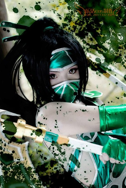 League Of Lol Akali Classic Sexy Cosplay Akali Costume Custom Size Hademade Cosplay Clothing With Weapon Wig 2